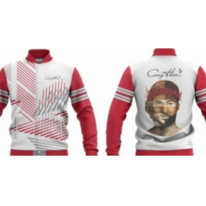 Jacket - White & Red Combo